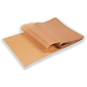 EntréeBake Unbleached Precut Parchment Paper Sheets (100pcs) - Will not Curl or Burn - Quicker than Roll - Perfect for 12x16 Inch Pans - Non Toxic Baking Sheet Liners - Ziploc For Easy Storage