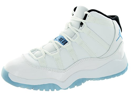 Nike Jordan Kids Jordan 11 Retro Bp White/Legend Blue/Black Basketball Shoe 2 Kids US