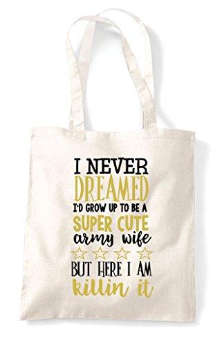 Shopper Army Bag Cute Wife Super Natural Tote XOwg0Fq
