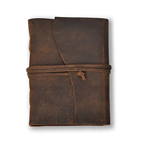 Handmade Leather Journal – Lined 7 x 5 Diary, Travel Notebook With 240 Pages – By Noteworthy