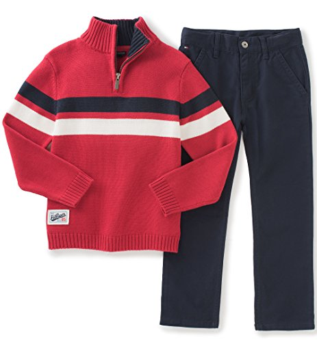 tommy-hilfiger-baby-sweater-pants-set-red-6-9-months