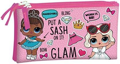 Lol Glam Estuche portatodo triple escolar: Amazon.es: Oficina y papelería