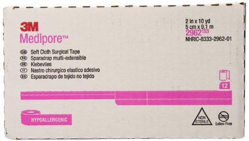 3M Medipore Soft Cloth Tape 2962 (5cm x 9,14m) (Pack of 12)