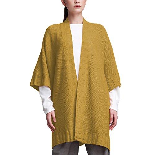 Parisbonbon Women's 100% Cashmere V-Neck Cardigan Color Goldenrod Size 3X (Gold Cashmere V-neck Sweater)