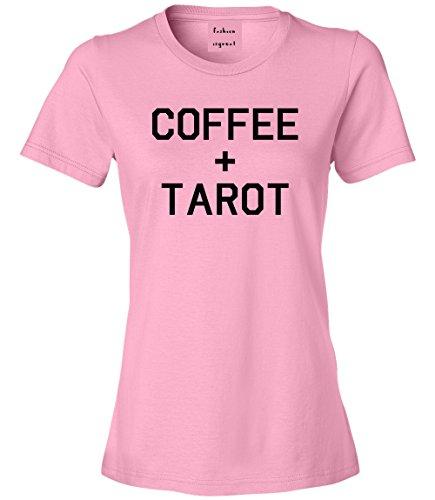 Coffee And Tarot Cards T-Shirt Pink Medium (870 Graphics Card)