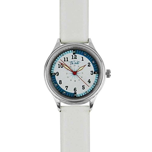 Think Medical Leather Midsize Nurse Watch (White)