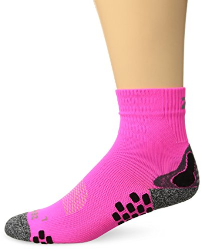 Zensah 3D Dotted Running Socks, Neon Pink, Small