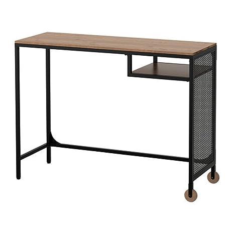 IKEA mesa para portátil, color negro, silla de oficina giratoria ...