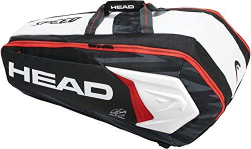 HEAD Novak Djokovic 9 Racquet SuperCombi Tennis - Racquet 9 Pack Bag