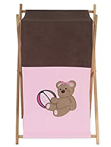 Baby and Kids Clothes Laundry Hamper for Sweet Jojo Designs for Pink and Chocolate Teddy Bear Bedding