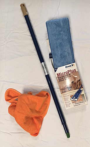 Floor Care Essentials Hard Surface (Bona Hardwood and Hard Surface Floor Mop With Microfiber Clean Cloth1 each)
