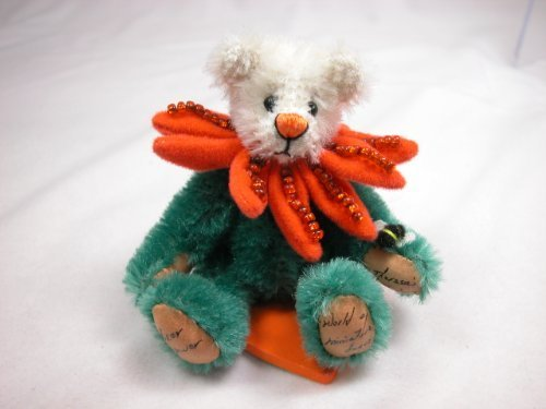 "World of Miniature Bears 3/"" Plush Tiger #678 Hande stitched"