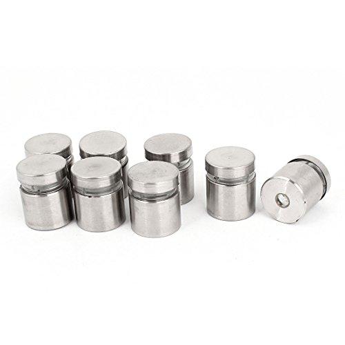 uxcell Stainless Steel Frameless Glass Standoff Clamp 19mm x 24mm 8 Pcs