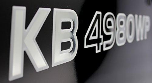 3D Lettering Boat & Jetski Registration Numbers - Domed/Raised Decal (16 pcs) Chrome Center/White - Domed Center