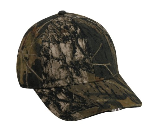 Mossy Oak Outdoor Cap Camouflage Hi-Beam Lighted Cap]()