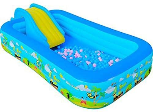 Pool- Piscina Inflable para niños Grandes, Piscina para niños, hogar, toboganes y cestas: Amazon.es: Jardín