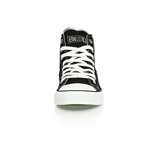Sneaker Etletico Vegan Hicut Classic - Farbe Jet Nero / Bianco Aus Bio-baumwolle