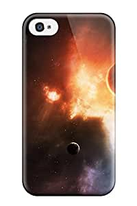 Fashion Tpu Case For Iphone 4/4s- Space Planets Defender Case Cover