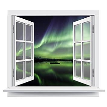 Premiumdesign Wandtattoo Fenster Atemberaubender Ausblick Auf Die