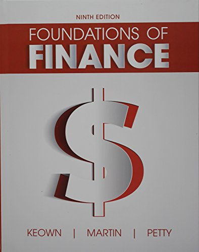 foundations of finance Get this from a library foundations of finance : the logic and practice of financial management [arthur j keown].