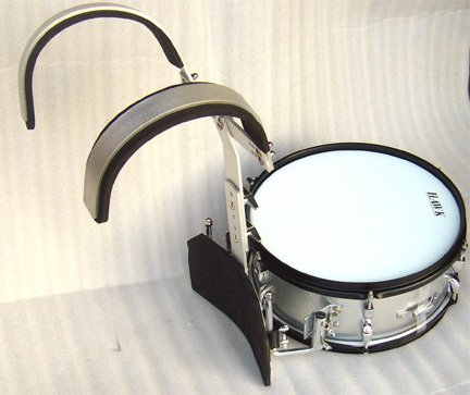 NEW SILVER COLOR MARCHING SNARE DRUM 14''x 5.5''