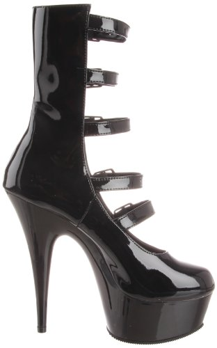 Pleaser DELIGHT-1027 Blk Pat/Blk Size UK 3 EU 36