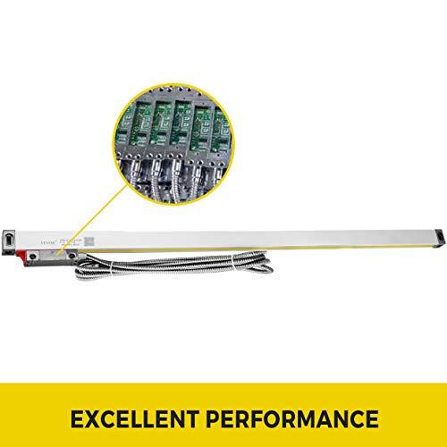 Mophorn Codificador Lineal 5V DC Escala Lineal para M/áquina de Fresado Torno 700mm Escala Lineal /Óptica con Cable de 3m para el Trabajo con Metales Tornos Rectificadoras Cil/índricas Fresadoras