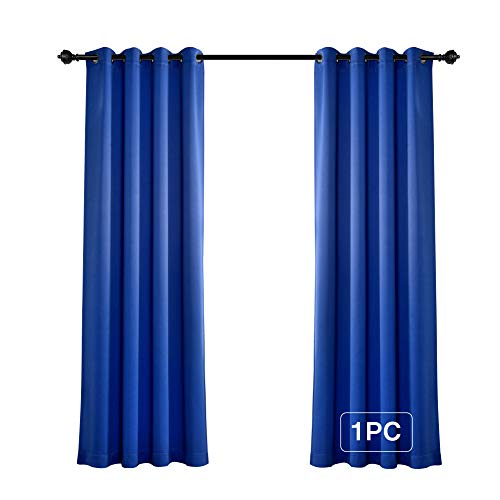 MYSKY HOME Solid Grommet top Thermal Insulated Window Blackout Curtains for Living Room, 52 x 84 Inch, Royal Blue, 1 -