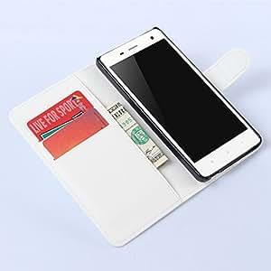 Nadadkin Xiaomi Mi4 Funda Slim Case de Estilo Billetera Carcasa Libro de Cuero Carcasa PU Leather con Ranuras para Tarjetas y Billetera Cierre ...