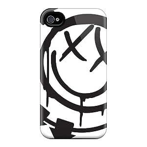 New Tpu Hard Case Premium Iphone 4/4s Skin Case Cover(blink 182 Band)