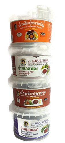 Soy Sauce Baby Costume (4 mix of Authentic Thai Chili Paste Set (Namprik) (3 Oz x 4))