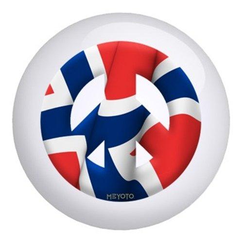 ノルウェーメヨト国旗ボーリングボール B003C1ZBR6   12lbs