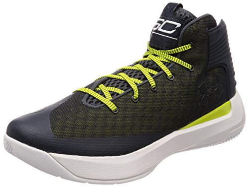 Under Armour Men's Curry 3Zero Basketball Shoe Stealth Grey/White Size