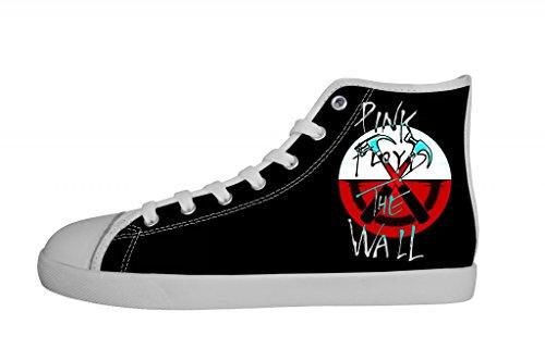 Canvas Women's Floyd High Shoes Top Pink White Rock Women Band LS54AqRjc3