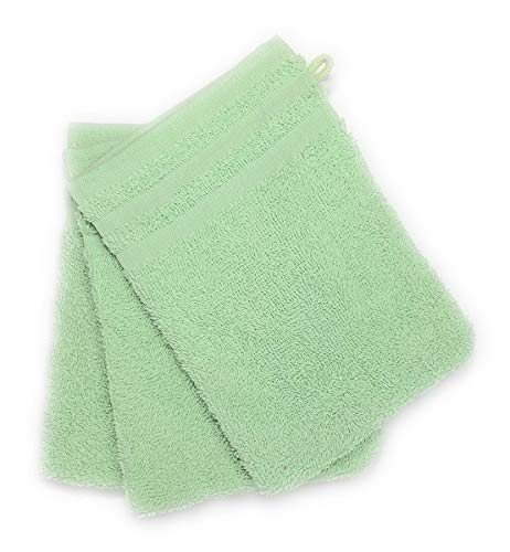 CORR Gants de toilette beige 100/% coton 20x14 cm LOT de 3