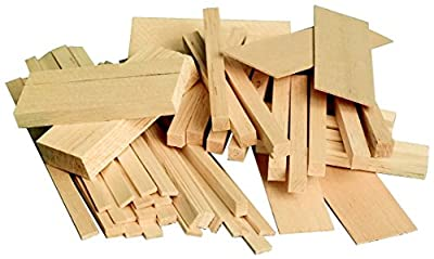 Sax 407055 Balsa Wood in Economy Bag, 1/2 Board Foot, Assorted Sizes by MIDWEST PRODUCTS CO INC