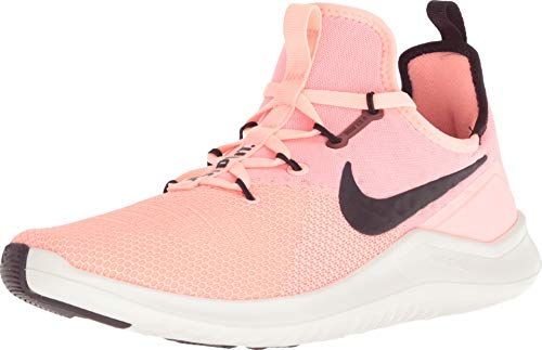 (Nike Women's WMNS Free TR 8, Pink Tint/Burgundy ASH-SAIL, 7.5 US)