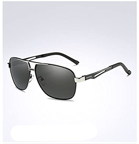 da0477b6326 Amazon.com   Silver Aoron-Hd-Polarized-Sunglasses-Men S-Driving-Outdoor- Sports-Eyewear-Glasses-Uv400   Garden   Outdoor