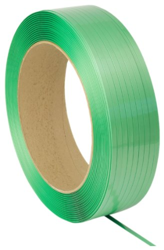 PAC Strapping 5835146G40W-AAR Polyester Waxed AAR Approved Strapping for Most Friction Weld Tools, 4000' Length, 5/8'' Width, 0.035'' Thick, Green by PAC Strapping Products