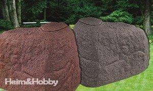 Regentonne Regensammler Findling Granitrot 500 Liter Amazon De Garten