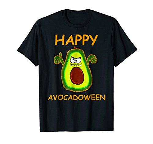 Halloween Avocado T-Shirt Happy Avocadoween Costume Kids Tee