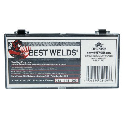 Best Welds 932-145-300 Bw-2x4-1/4 Glass Mag Lens 3.00 Diopter (Mag Lens)