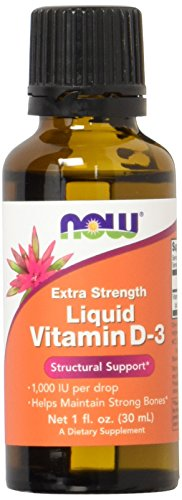 NOW  Extra Strength Liquid Vitamin D-3, (Extra Strength Liquid)