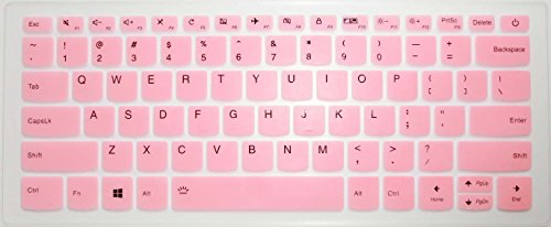 BingoBuy US Layout Keyboard Protector Skin Cover for Lenovo Yoga 720-15IKB, 520s 14, Flex 5 14 & 15, 120s 14, 320s 14, 330 330s 14, 530s 15 (Pink)