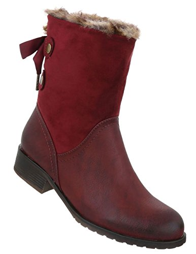 Optik Weinrot Boots Stiefeletten Used Damen Schuhe 6fwv77