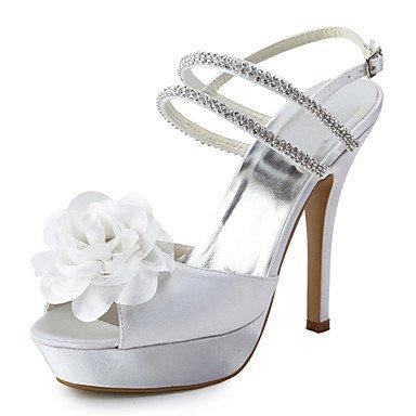 White US8 Heel CN39 Stiletto Heels Silk Evening Peep Wedding Dress EU39 Heels amp;Amp; UK6 Toe Party Women'S Shoes ARTgH