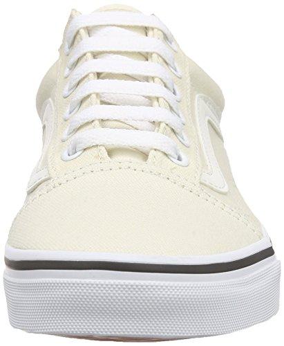 classic Adulto White Skool Scarpe Vans Unisex Da Old Basse Bianco canvas Ginnastica 0qPBvA