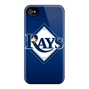 SherieHallborg Iphone 4/4s Great Cell-phone Hard Covers Customized Beautiful Tampa Bay Rays Image [CBT3237NsHs]