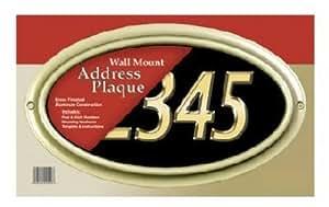 Gibraltar Brushed Brass Address Plaque BWP00000