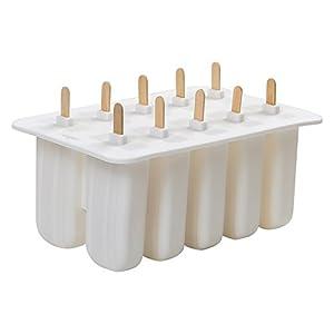 SODIAL Gel di silice Stampo per Gelato Stampo per ghiacciolo Stampo per Gelato Popsicle Stampo per Gelato 10 con Stampo… 2 spesavip